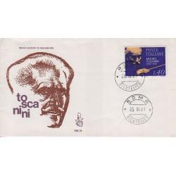 FDC Italia Venetia 1967 245-it Arturo Toscanini annullo roma