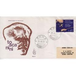FDC Italia Venetia 1967 245-it Arturo Toscanini annullo roma viaggiata