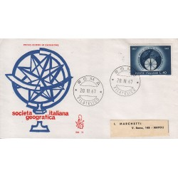 FDC Italia Venetia 1967 245-it Società Geografica annullo roma viaggiata