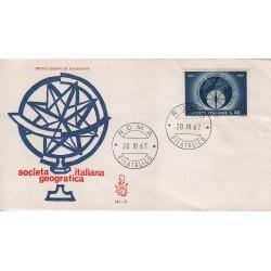 FDC Italia Venetia 1967 245-it Società Geografica annullo roma