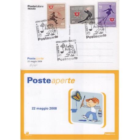 FDC annullo speciale 22/05/208 Posteaperte a/s Lamezia Terme 611/08