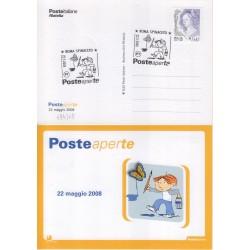 FDC annullo speciale 22/05/208 Posteaperte a/s Roma Spinaceto 584/08