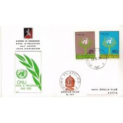 FDC ITALIA 1969 Grolla 147 Unif.1132/3 25° anniv. dell' ONU