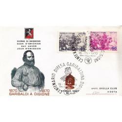 FDC ITALIA 1969 Grolla 146 Unif.1130/1 Garibaldi a Digione
