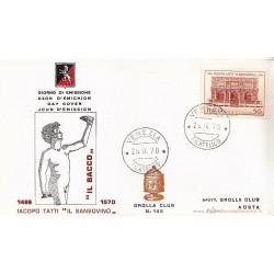 FDC ITALIA 1969 Grolla 145 Unif.1129 Jacopo Tatti detto il Sansovino