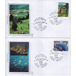 FDC ITALIA 1999 Filagrano Gold unif. 2435/6 Europa CEPT
