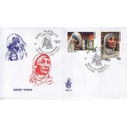 FDC ITALIA 1998 Venetia Unif. 2402/3 Maria Teresa di Calcutta