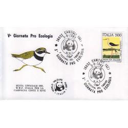 FDC annullo speciale 03/08/1985 - CAMOGLI GE 5^ Giornata Pro Ecologia - 1° festival del Tirreno