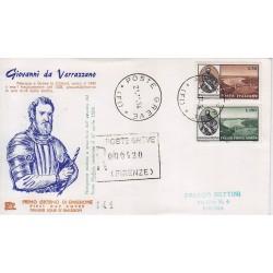 FDC ITALIA 1964 Chimera Unif. 988 + A157 Giovanni Verrazzano raccomandata