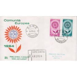 FDC ITALIA 1964 Chimera Unif. 981/2 Europa CEPT raccomandata