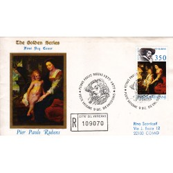 FDC VATICANO The Golden Series 1977 Rubens raccomandata