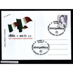 FDC ITALIA Marcofilia Annullo speciale n° 367 08/04/2011 TORINO 34
