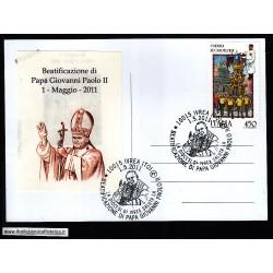 FDC ITALIA Marcofilia Annullo speciale n° 567 01/05/2011 IVREA (TO)