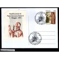 FDC ITALIA Marcofilia Annullo speciale n° 611 01/05/2011 OZIERI (SS)