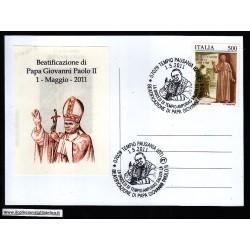 FDC ITALIA Marcofilia Annullo speciale n° 612 01/05/2011 TEMPIO PAUSANIA (OT)