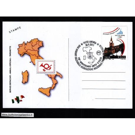 FDC ITALIA Marcofilia Annullo speciale n 1578 30/09/2011 76123 ANDRIA