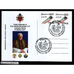 FDC ITALIA Marcofilia Annullo speciale n 1688 09/10/2011 LAMEZIA TERME