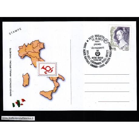 FDC ITALIA Marcofilia Annullo speciale n 1724 15/10/2011 BARLETTA
