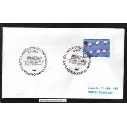 Annullo Speciale 08/04/1984 87100 COSENZA C.P. - II MOSTRA FILATELICA GIOVANILE NAZIONALE