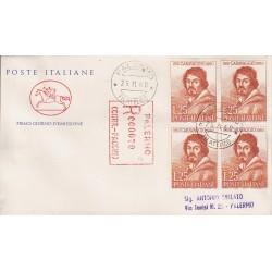 FDC ITALIA 1960 POSTE ITALIANE - 897 - Michelangelo Merisi, detto il Caravaggio a/PA quartina racc